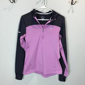Women's Sz S 1/4 zip Nike Running